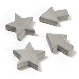 LIV-97, Concrete magnets, in three different shapes, set of 4