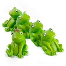 LIV-104, Frogs, fridge magnet in the shape of frogs, set of 5