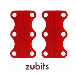 M-ZUB-02/red, Zubits® M, magnetische Schuhbinder, für Jugendliche & Erwachsene, rot