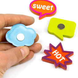 SALE-109, Expression magnets Fancy, rubberised, set of 4