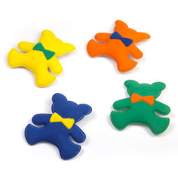 SALE-107, Teddy magnets, made of plastic, velvety, set of 4
