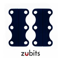 M-ZUB-02/blue, Zubits® M, magnetische Schuhbinder, für Jugendliche & Erwachsene, blau