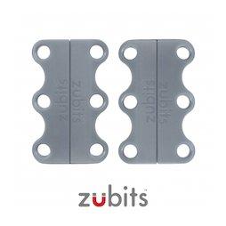 M-ZUB-01/grey, Zubits® S, magnetische schoenveters, voor kinderen & senioren, grijs