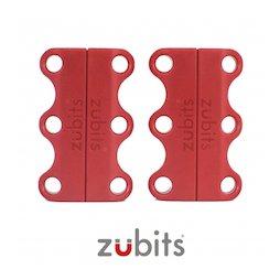 M-ZUB-01/red, Zubits® S, magnetische schoenveters, voor kinderen & senioren, rood