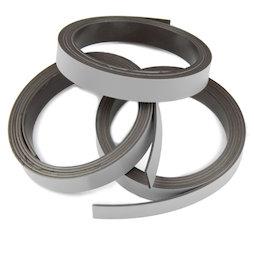 MT-10/silver, Nastro magnetico colorato 10 mm, da ritagliare per etichettare, rotoli da 1 m, color argento
