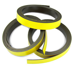 MT-10/yellow, Nastro magnetico colorato 10 mm, da scrivere e tagliare, rotoli da 1 m, giallo