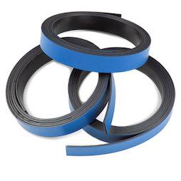 MT-10/blue, Nastro magnetico colorato 10 mm, da ritagliare per etichettare, rotoli da 1 m, blu