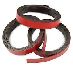 MT-10/red, Nastro magnetico colorato 10 mm, da ritagliare per etichettare, rotoli da 1 m, rosso