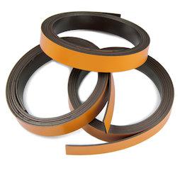 MT-10/orange, Nastro magnetico colorato 10 mm, da ritagliare per etichettare, rotoli da 1 m, arancione
