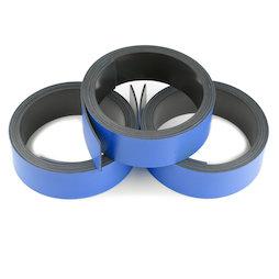 MT-20/blue, Bande magnétique couleur 20 mm, pour y écrire et pour découper, rouleaux d'1 m, bleu