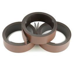 MT-20/brown, Bande magnétique couleur 20 mm, pour y écrire et pour découper, rouleaux d'1 m, marron
