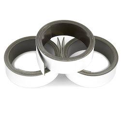 MT-20/white, Bande magnétique couleur 20 mm, pour y écrire et pour découper, rouleaux d'1 m, blanc