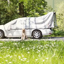 M-ALU-0305, Alunet schaduwnet 80% M, zonwering voor auto en tuin, 3 x 5 m