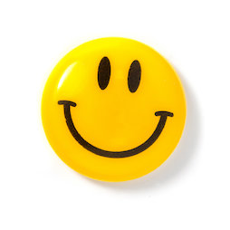 LIV-124, Smiley 'Boy', plasticised, yellow