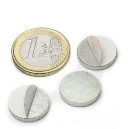 PAS-16, Metalen schijfje zelfklevend Ø 16 mm, als tegenstuk voor magneten, geen magneet!