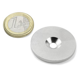 MD-34, Metal disc with counterbore Ø 34 mm, as a counterpart to magnets, not a magnet!