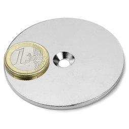 MD-62, Metal disc with counterbore Ø 62 mm, as a counterpart to magnets, not a magnet!
