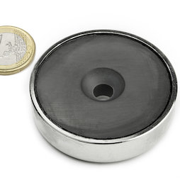 CSF-60, Ferrite pot magnet, with counterbore, Ø 60 mm