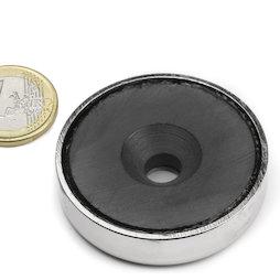 CSF-48, Ferriet potmagneet, met verzonken gat, Ø 48 mm