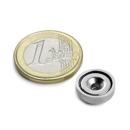 CSN-13, Countersunk pot magnet, Ø 13 mm, strength approx. 3 kg