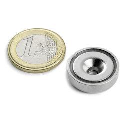 CSN-HT-20, Countersunk pot magnet, Ø 20 mm, strength approx. 9 kg