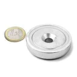 CSN-48, Countersunk pot magnet, Ø 48 mm, strength approx. 87 kg