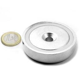 CSN-60, Countersunk pot magnet Ø 60 mm, strength approx. 130 kg