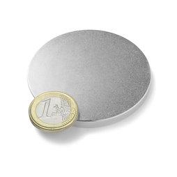 S-60-05-N, Disc magnet Ø 60 mm, height 5 mm, neodymium, N42, nickel-plated