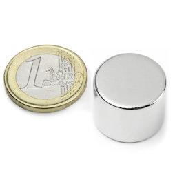 S-20-15-N, Disco magnético Ø 20 mm, alto 15 mm, neodimio, N42, niquelado