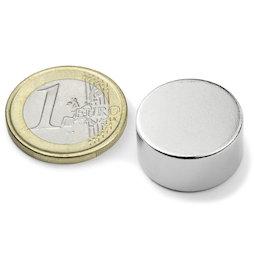 S-20-10-N, Disco magnetico Ø 20 mm, altezza 10 mm, neodimio, N42, nichelato