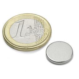 S-13-02-N, Disco magnético Ø 13 mm, alto 2 mm, neodimio, N45, niquelado