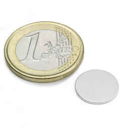 S-13-01-N, Disco magnetico Ø 13 mm, altezza 1 mm, neodimio, N45, nichelato