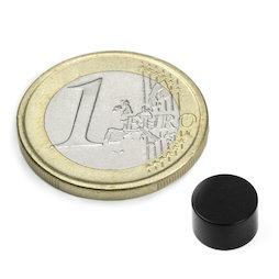 S-08-05-E, Disque magnétique Ø 8 mm, hauteur 5 mm, néodyme, N45, revêtement époxy