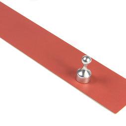 MB-18/red, Barra magnetica autoadesiva 50 cm, supporto autoadesivo per magneti, in metallo, rosso