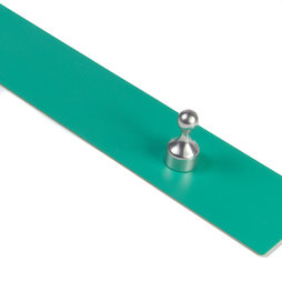 MB-19/green, Magnetic strip self-adhesive 80 cm, self-adhesive surface for magnets, metal, green