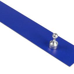 MB-18/blue, Barra magnetica autoadesiva 50 cm, supporto autoadesivo per magneti, in metallo, blu