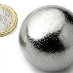 K-40-C, Bille magnétique Ø 40 mm, néodyme, N40, chromé