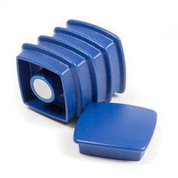 BX-SQ30-BULK/blue, Boston Xtra vierkant 25 stuks, bulkverpakking met 25 kantoormagneten neodymium