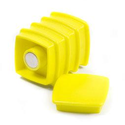 BX-SQ30-BULK/yellow, Boston Xtra vierkant 25 stuks, bulkverpakking met 25 kantoormagneten neodymium