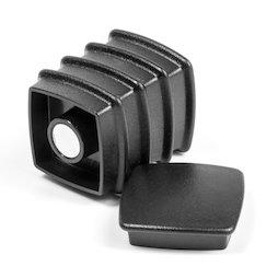 BX-SQ30/black, Boston Xtra vierkant, set met 5 kantoormagneten neodymium, vierkant, zwart