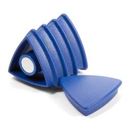 BX-TR30/blue, Boston Xtra driehoekig, set met 5 kantoormagneten neodymium, driehoekig, blauw