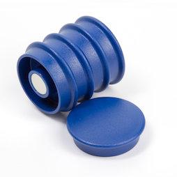 BX-RD30/blue, Boston Xtra round, set of 5 office magnets neodymium, round, blue