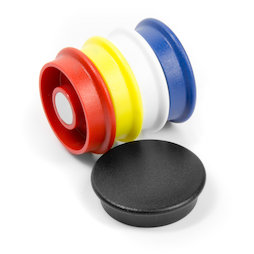 BX-RD30/mixed, Boston Xtra round, set of 5 office magnets neodymium, round, assorted