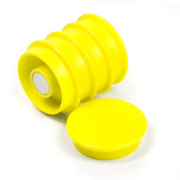 BX-RD30/yellow, Boston Xtra round, set of 5 office magnets neodymium, round, yellow