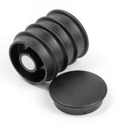 BX-RD30/black, Boston Xtra rond, set de 5 aimants de bureau en néodyme, rond, noir