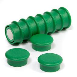 BX-RD20/green, Boston Xtra mini rotondi, set con 10 magneti per l'ufficio al neodimio, verde