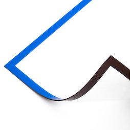 QMS-A5/blue, Cadre magnétique bleu A5, pour accrocher des notes, pour tableaux blancs, armoires, etc., format A5