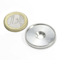 MSD-26, Metal disc with an edge and counterbore M4, Inner diameter 26 mm, as a counterpart to magnets, not a magnet!