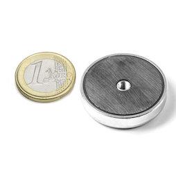 ITF-32, Ferrite pot magnet with internal thread M4, Ø 32 mm