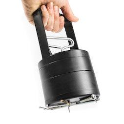 WS-PUT-04, Ramasseur magnétique, avec mécanisme de détachement, 100 mm de diamètre, noir